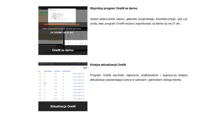 Aktualizacja programu OneIN